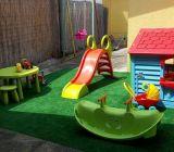 Detské ihrisko na terase v uzavretom priestore